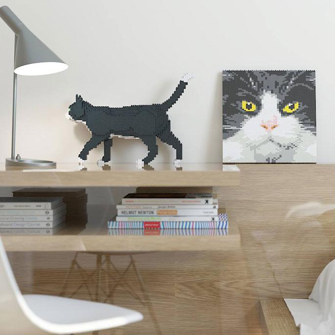 고양이를 반려할 수 없는, 애묘인을 위한 레고