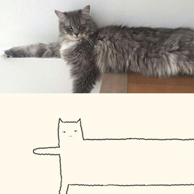 고양이의 힘2, 단순하게 그렸을 뿐인데