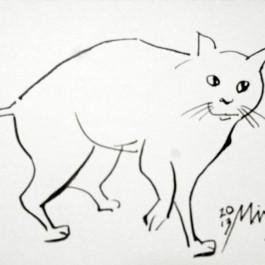 화가 김민지, 고양이의 생명력을 그리다